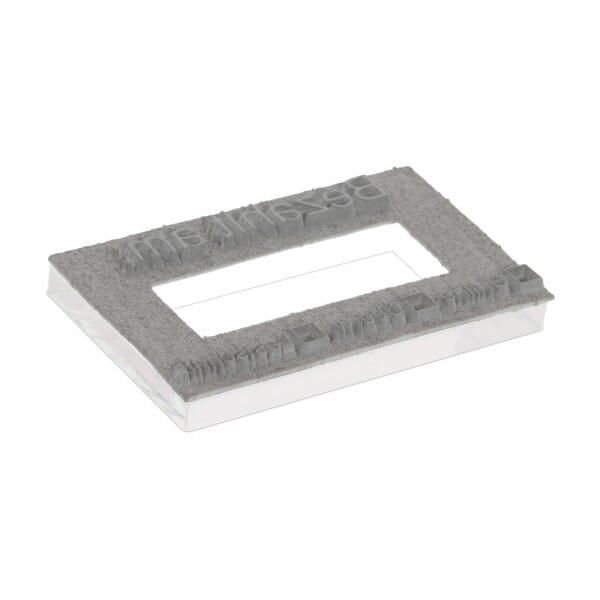 Textplatte für Trodat Printy 4729 - 50 x 30 mm - 3 + 3 Zeilen inkl. Ersatzkissen