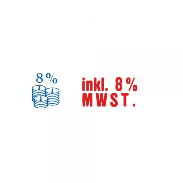 "Trodat Office Printy Textstempel ""inkl. 8 % MWST"""