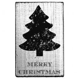 Vintage Stamp Merry Christmas (Tannenbaum 2)