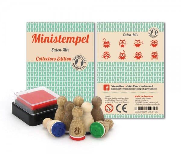 Ministempel Eulen-Mix