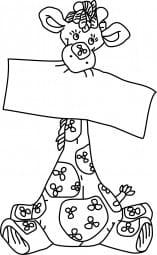 Perma Stempel Holzstempel - Giraffe