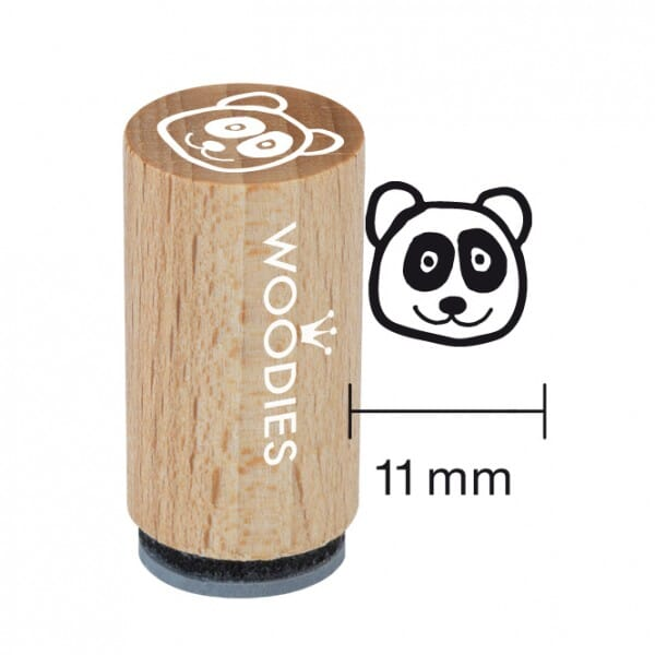 Mini Woodies Stempel - Panda