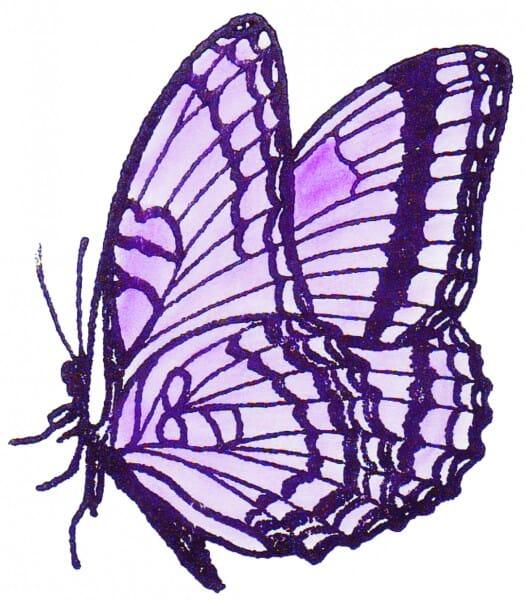Perma Stempel Holzstempel - Schmetterling (Design 3)