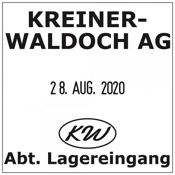 Trodat Printy Datumstempel 4724 - 40 x 40 mm - 3 + 3 Zeilen