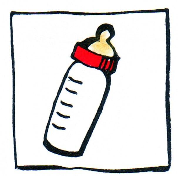 Perma Stempel Holzstempel - Schoppenflasche