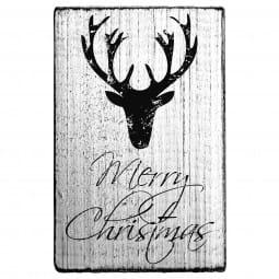 Vintage Stamp Merry Christmas (Hirschkopf)