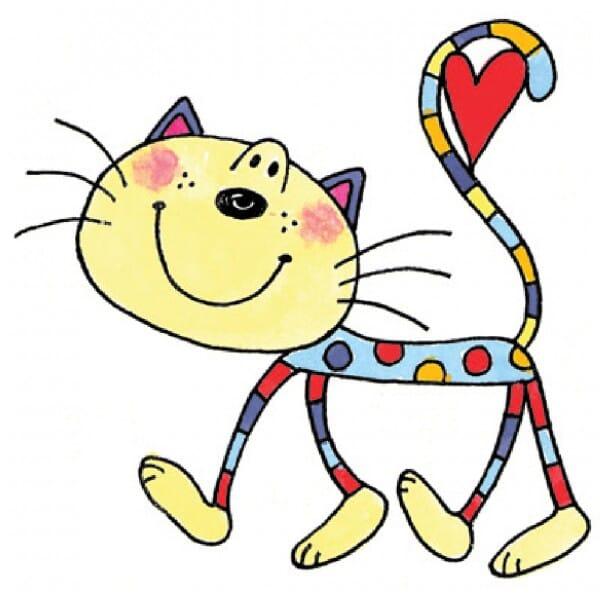 Penny Black Holzstempel - Katze mit Herz