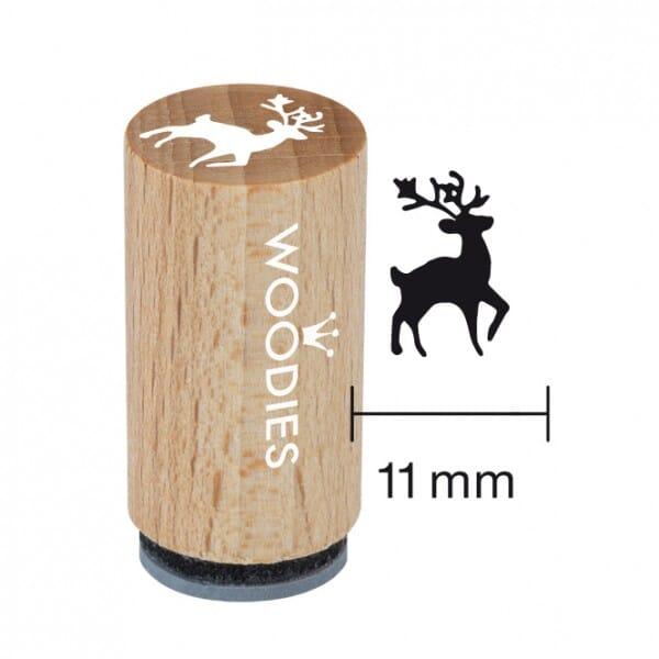 Mini Woodies Stempel - Hirsch