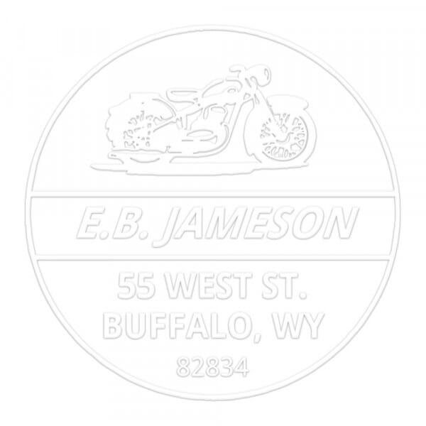Monogramm-Prägezange rund - Motorrad