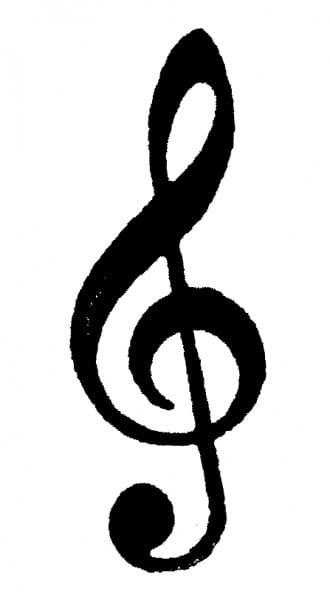 Perma Stempel Holzstempel - Notenschlüssel