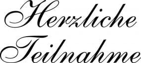 Perma Stempel Holzstempel - Herzliche Teilnahme 1