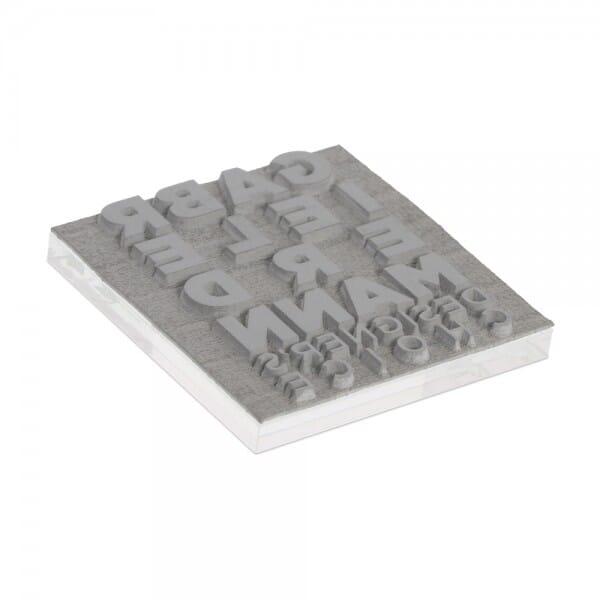 Plaque de texte personnalisée pour Colop Printer Q 24 (24x24 mm - 6 lignes)