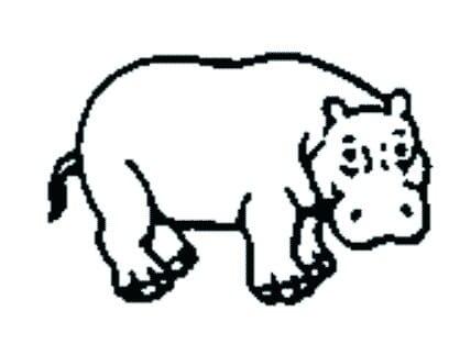 Perma Stempel Holzstempel - Nilpferd