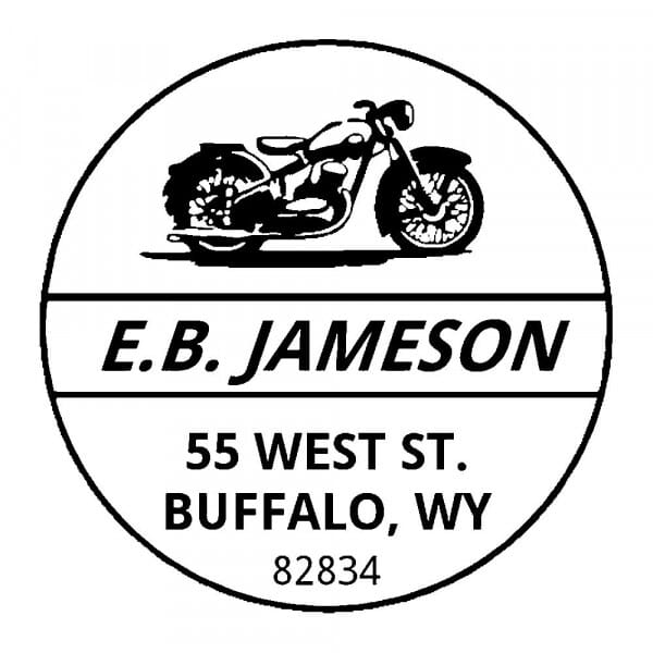 Monogrammstempel rund - Motorrad