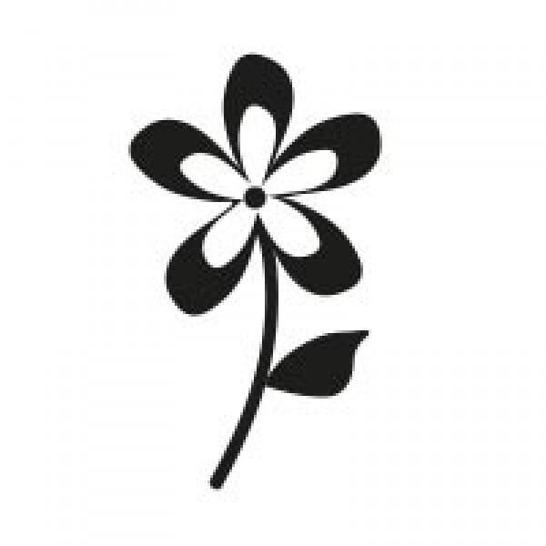 Stemplino Ministempel Blume mit Stiel