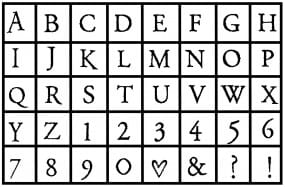 Hero Arts Buchstabenstempel-Set Alphabet