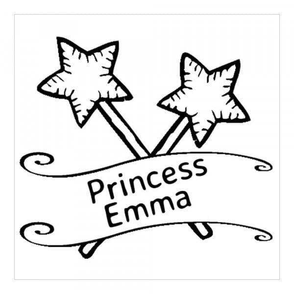 Monogrammstempel quadratisch - Prinzessin
