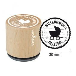 Woodies Stempel - Willkommen im Leben