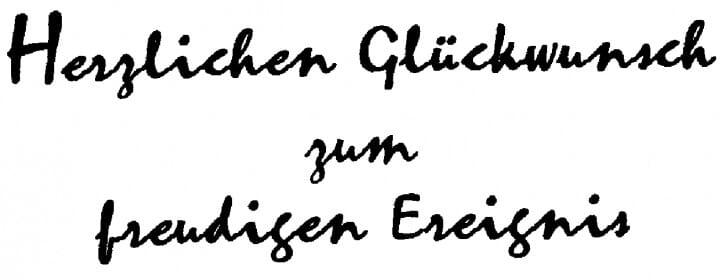 Perma Stempel Holzstempel - Herzliche Glückwünsche z. freudigen Ereignis