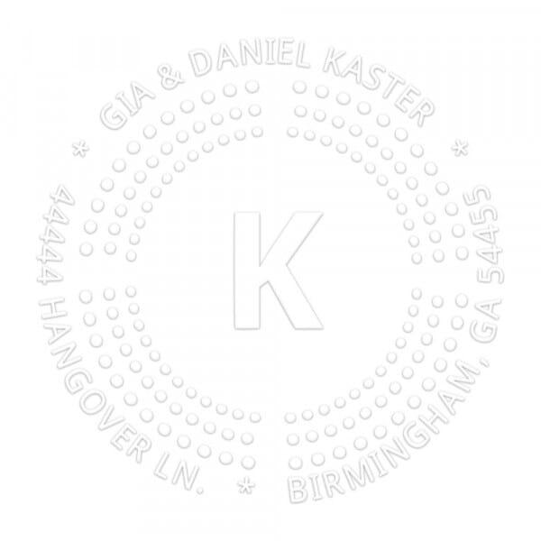 Monogramm-Prägezange rund - Punkte