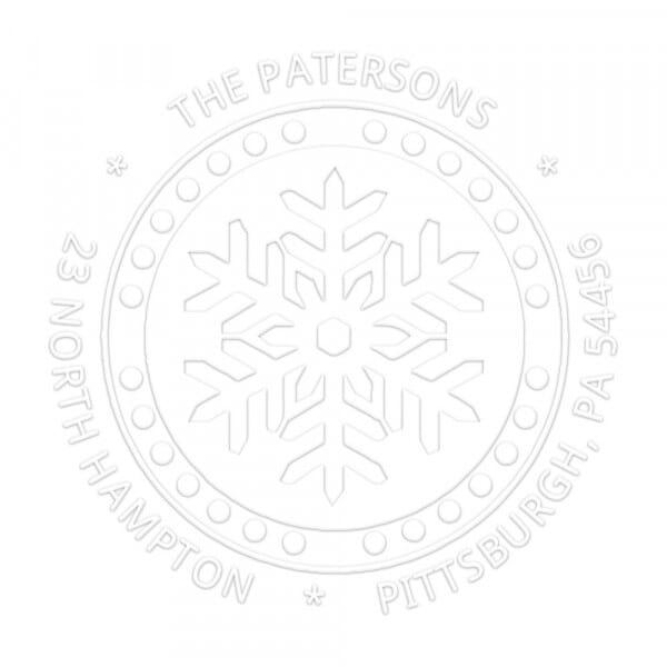 Monogramm-Prägezange rund - Schneeflocke im Winter