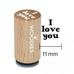 Mini Woodies Stempel - I love you