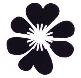 Hero Arts Holzstempel - Herz Blumen
