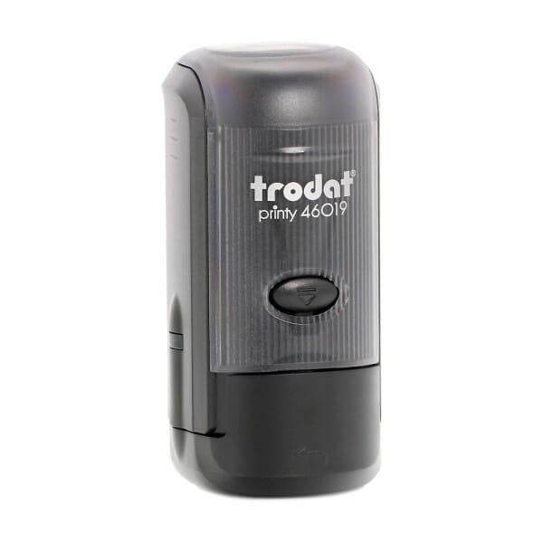Trodat Printy 46019 - Textstempel rund - Dm. 19 mm - 4 Zeilen