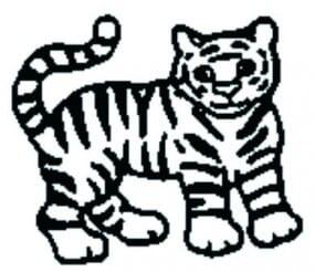 Perma Stempel Holzstempel - Tiger