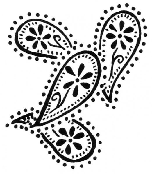 Penny Black Holzstempel - Paisleys