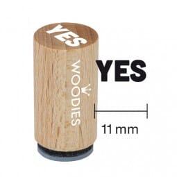 Mini Woodies Stempel - Yes
