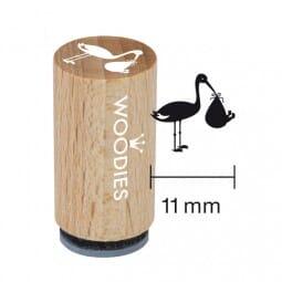 Mini Woodies Stempel - Storch