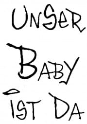 Perma Stempel Holzstempel - UNSER BABY IST DA