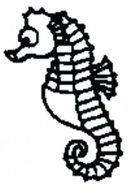 Perma Stempel Holzstempel - Seepferd