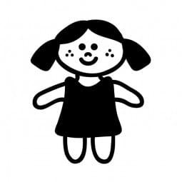 Stemplino Ministempel Puppi Puppe