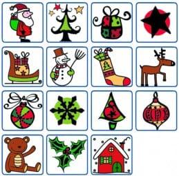 ALADINE Holzstempel - Set Weihnachten