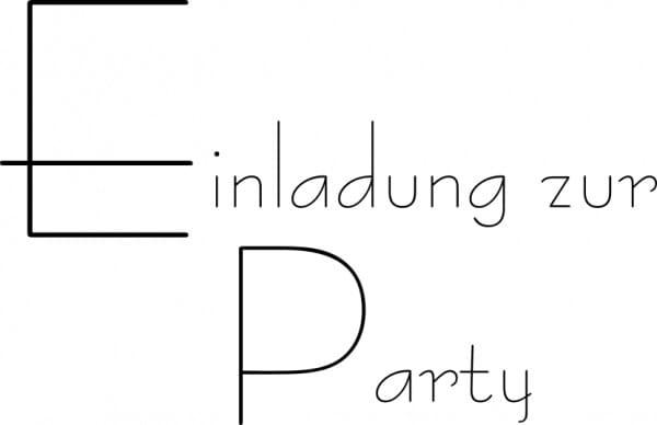 Perma Stempel Holzstempel - Einladung zur Party