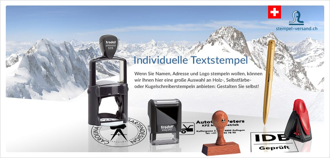 individuelle Textstempel