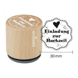 Woodies Stempel - Einladung zur Hochzeit
