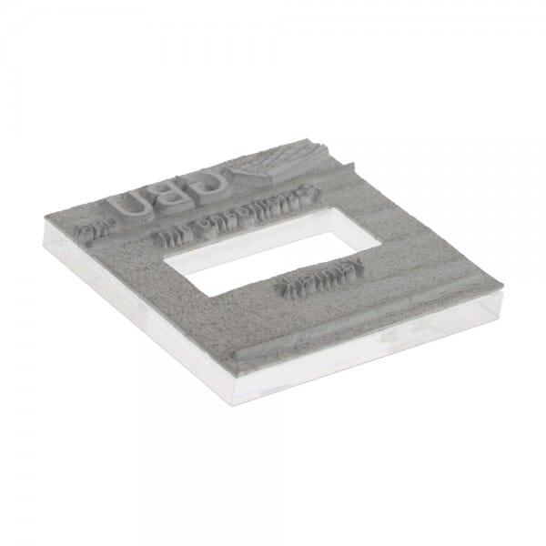 Textplatte für Trodat Printy 4724 - 40 x 40 mm - 3 + 3 Zeilen inkl. Ersatzkissen