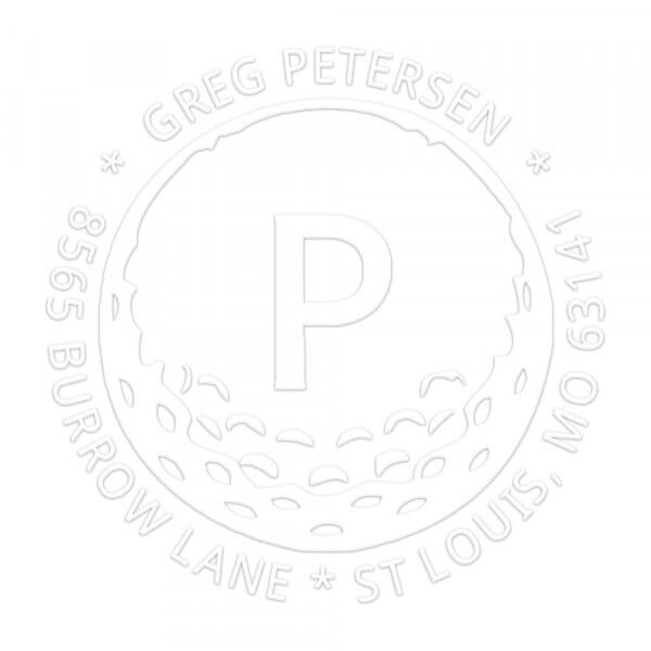 Monogramm-Prägezange rund - Golf