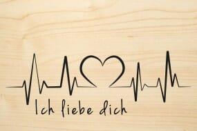 Holzgrusskarte - Liebe - Ich liebe dich