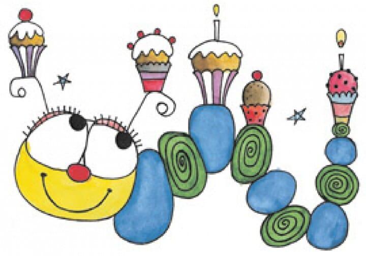 Penny Black Holzstempel - Geburtstags Wurm