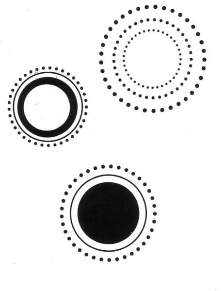 Penny Black Holzstempel - Kreise