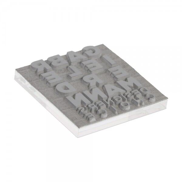 Textplatte für Trodat Printy 4923 - 30 x 30 mm - 6 Zeilen inkl. Ersatzkissen