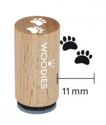 Mini Woodies Stempel - Pfoten