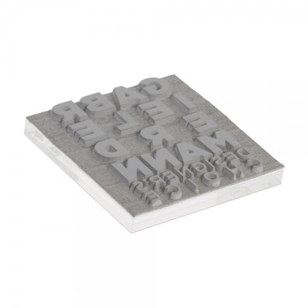 Textplatte für Trodat Printy 4921 - 12 x 12 mm - 2 Zeilen inkl. Ersatzkissen