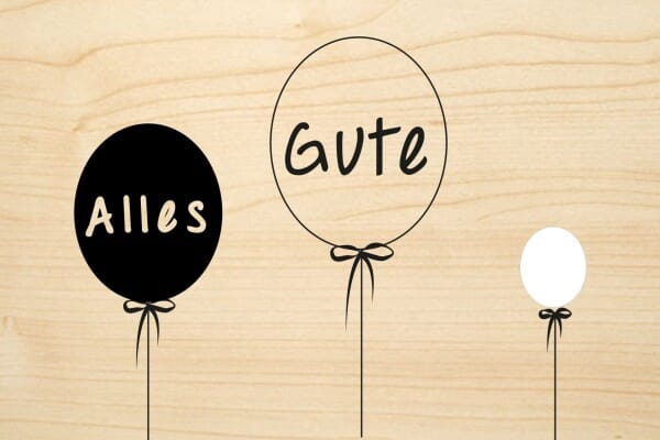 Holzgrusskarte - Geburtstag - Alles Gute