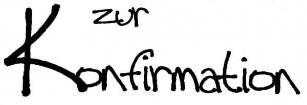 Perma Stempel Holzstempel - Zur Konfirmation