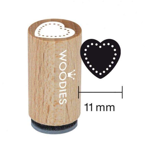 Mini Woodies Stempel - Herz 3